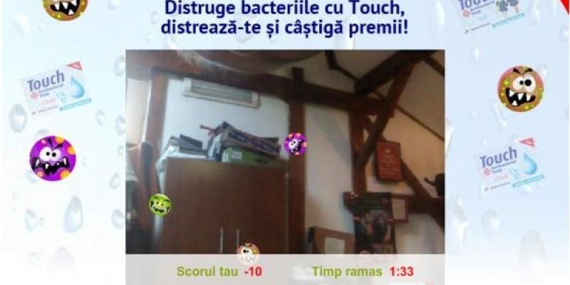 Creative Market a creat pentru Touch Antibacterial o aplicatie care foloseste augmented reality