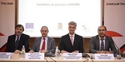 UniCredit Tiriac Bank in cadrul JEREMIE: finantari de aproximativ 25 de milioane EUR pentru IMM-urile din Romania