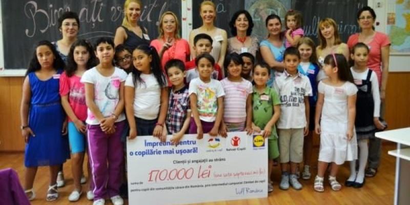 "170.000 RON, stansi in cadrul programului Lidl ""Zambet de copil"""