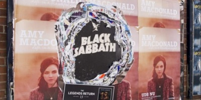 45 de ani de istorie Black Sabbath intr-un OOH neconventional