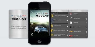 MIDOCAR lanseaza o aplicatie mobila, cu acces la toate serviciile companiei