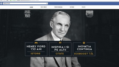 Aplicatie de Facebook: Ford - Henry Ford 150 Years