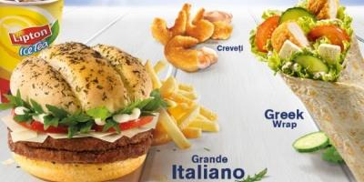 """""""Festivalul verii"""" de la McDonald's cu Grande Italiano, Greek Wrap si creveti"""