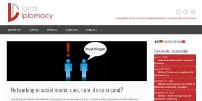 DigitalDiplomacy.ro - prima platforma de comunicare digitala pentru sectorul public din Romania