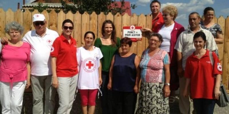 Crucea Rosie Romana lanseaza primul punct de prim ajutor in satul izolat Titcov, din judetul Braila