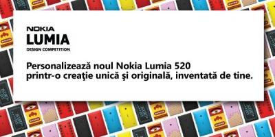 Incepe Nokia Lumia Design Competition. Manifestul tau personal, exprimat pe noul smartphone Lumia 520