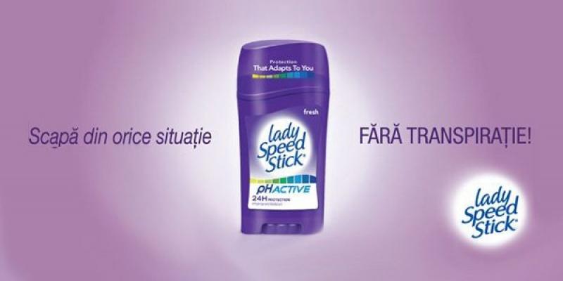 """""""Scapa din orice situatie, FARA TRANSPIRATIE"""", noua campanie de promovare Lady Speed Stick si Mennen Speed Stick"""
