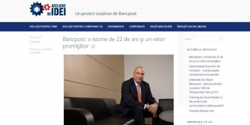 Bancpost creeaza un nou canal de comunicare cu publicul sau