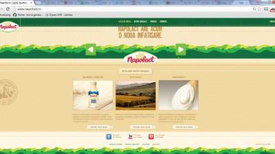 Website: Napolact.ro - Homepage