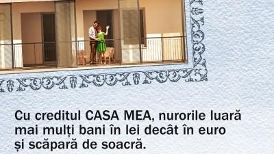 BCR - Creditul CASA MEA: Soacra cu trei nurori
