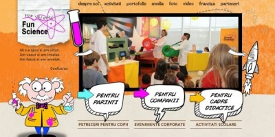 Pixio Interactive a creat platforma Fun Science Romania