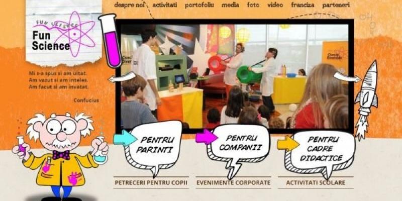 Pixio Interactive a creat platforma Fun Science Romania