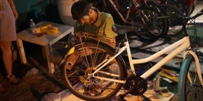 TUC a transformat bicicletele participantilor la ADfel 2013 in surse de inspiratie pentru viitoare peripetii