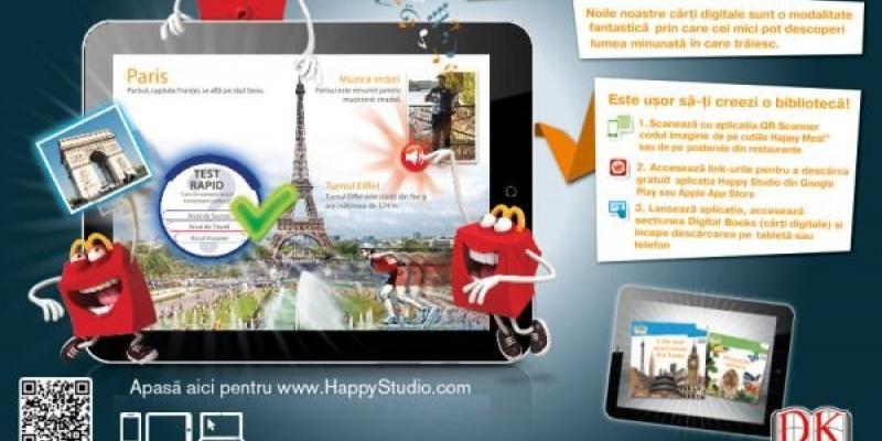 Programele educative propuse de McDonald's copiilor: Peretele Digital, Cartile Interactive Digitale si Clubul de Vara