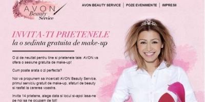 Sedinte de make-up gratuite oferite de AVON prin intermediul aplicatiei AVON Beauty Service