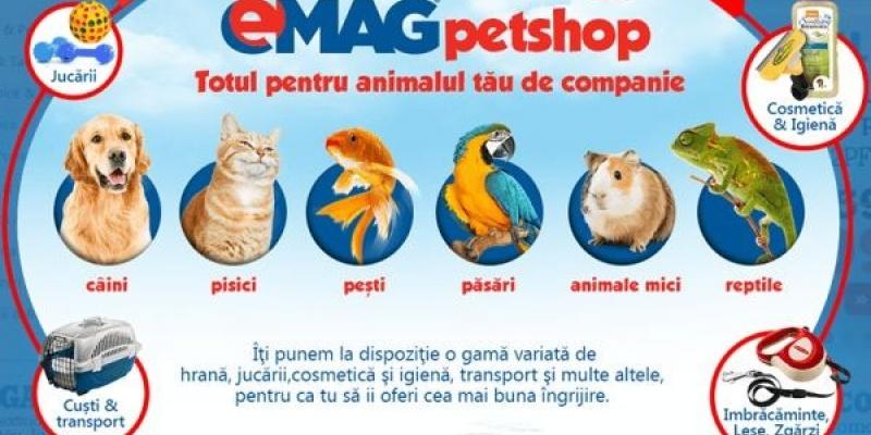 eMAG isi extinde portofoliul de produse comercializate prin introducerea unei categorii dedicate animalelor de companie