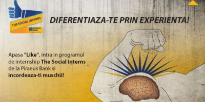 "Piraeus Bank recruteaza interni prin ""The Social Interns"", aplicatie creata de MSPS & Momobi"