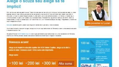 Website: sos-satelecopiilor.ro - Prima zi de scoala