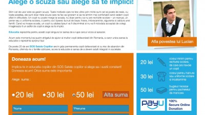 Website: sos-satelecopiilor.ro - Zi de zi la scoala