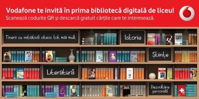 Biblioteca Digitala Vodafone se extinde in 300 de licee din tara