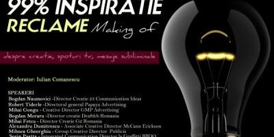 Conferinta 99% inspiratie are loc pe 22 noiembrie