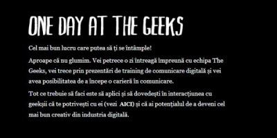One Day@The Geeks pentru copywriteri la inceput de drum