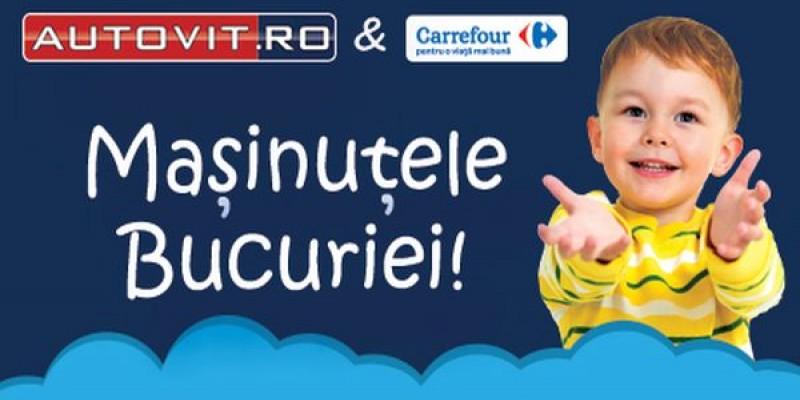 """Autovit.ro si Carrefour Romania lanseaza """"Masinutele Bucuriei"""" – un program de colectare de masinute pentru copiii defavorizati"""