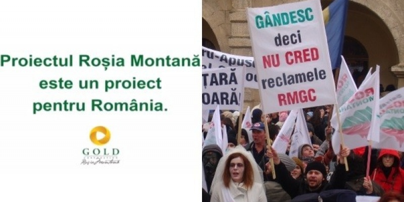 Pozitiile agentiilor care au lucrat la campaniile de comunicare pro si contra proiectului minier de la Rosia Montana