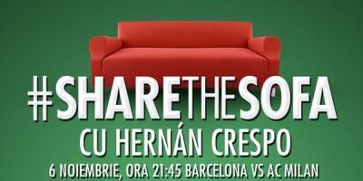 Heineken invita microbistii alaturi de fotbalisti legendari, pe canapeaua virtuala #ShareTheSofa