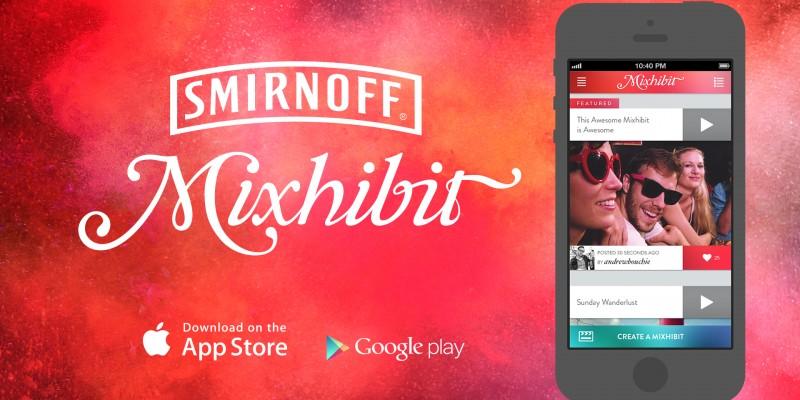 Smirnoff lanseaza aplicatia video mobile Mixhibit