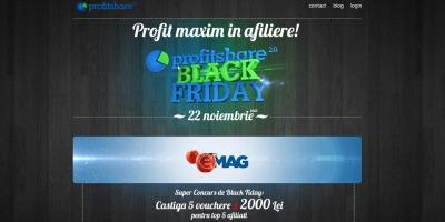 Marketingul afiliat prin Profitshare a generat vanzari de peste 15 milioane de lei de Black Friday