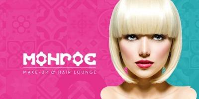 Design de brand pentru MONROE Make-up & Hair Lounge si pentru Timesquare by CELLINI, realizat de HIPPOS