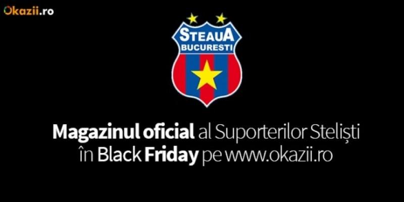 De Black Friday, Okazii.ro gazduieste Magazinul Oficial FC Steaua Bucuresti