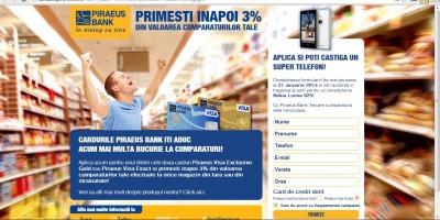 Cardulcupromotii.ro, punctul central al campaniei care comunica noua oferta Piraeus Bank Romania