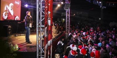 Locuitorii satului Pietroasele au primit energia colectata de caravana Coca-Cola de la 23.000 de consumatori