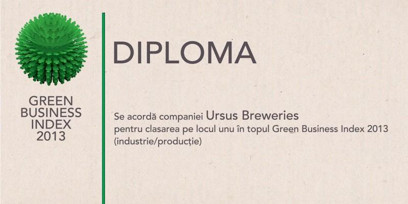 Green Business Index 2013: Sonae Sierra si Ursus Breweries - cele mai responsabile companii fata de mediu