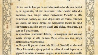 The Hobbit - Traseul mitologic (Canionul de sare si pestera Meledic)