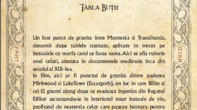 The Hobbit - Traseul mitologic (Tabla Butii)