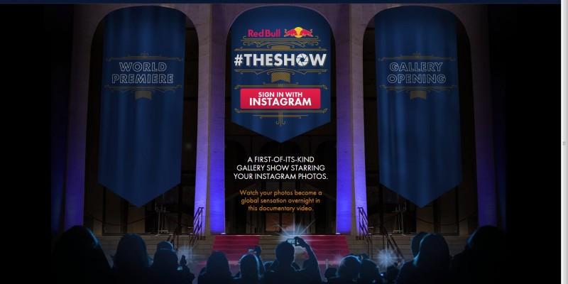 Red Bull #THESHOW: Utilizatorii de Instagram isi pot vedea fotografiile expuse intr-o galerie digitala