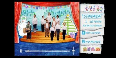 Utilizatorii pot dirija un cor de copii in cadrul unei aplicatii de Facebook create pentru SOS Satele Copiilor