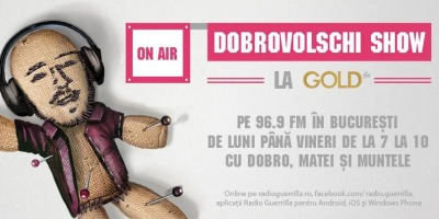 Gold FM gazduieste in FM o mica parte a Radio Guerilla: matinalul lui Dobrovolschi