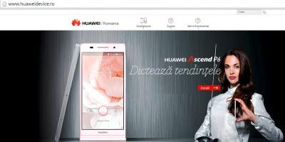 Echipa de PR anunta lansarea site-ului oficial Huawei Romania