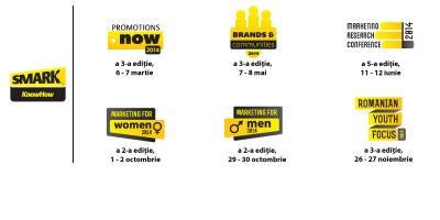 Calendarul celor 6 evenimente de marketing si comunicare din 2014 organizate de SMARK KnowHow