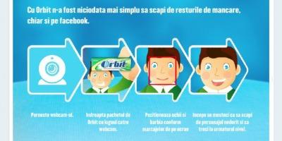 """Aplicatia de Facebook """"Mestecometrul"""", de la Orbit, le arata utilizatorilor cum pot scapa de resturile de mancare"""