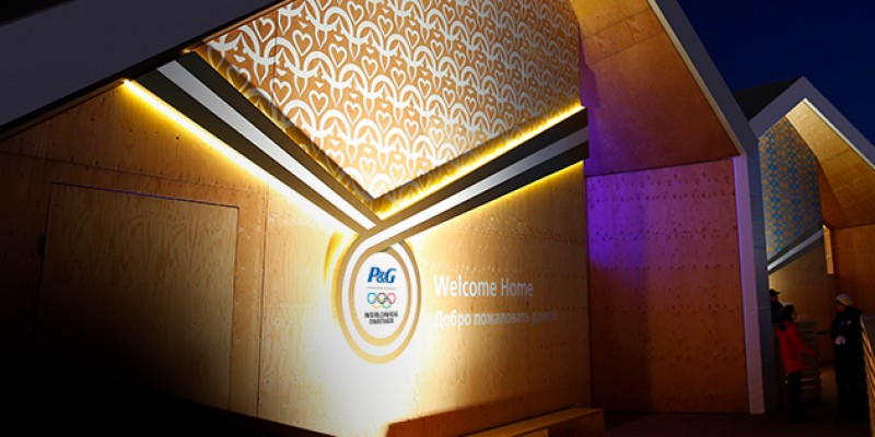 Activare de brand P&G la Sochi, in P&G Family Home