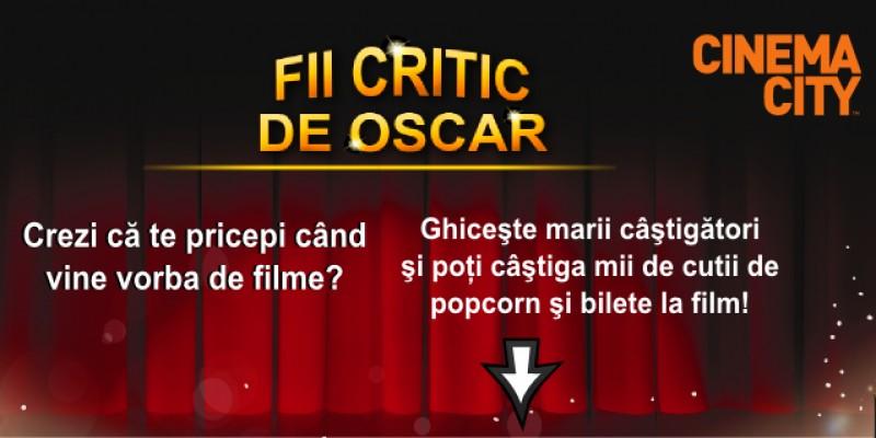 Aplicatie Cinema City care ii premiaza pe cei care ghicesc cine sunt viitorii castigatori la Oscar