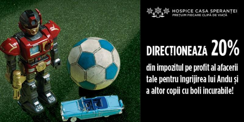 """Peste 1 milion de lei stransi in cadrul campaniei """"Directioneaza 20%"""", realizata de WoPA pentru HOSPICE Casa Sperantei"""