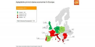 Studiu GfK in Europa: Asteptarile consumatorilor privind starea economiei si veniturile au crescut in aproape toate cele 14 tari analizate