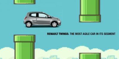 Responsive advertising pentru Renault Twingo care te invata cum sa castigi la Flappy Bird