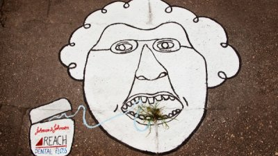 Reach Dental Floss - Grass at sidewalks (2)